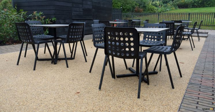 Black outdoor cafe furniture