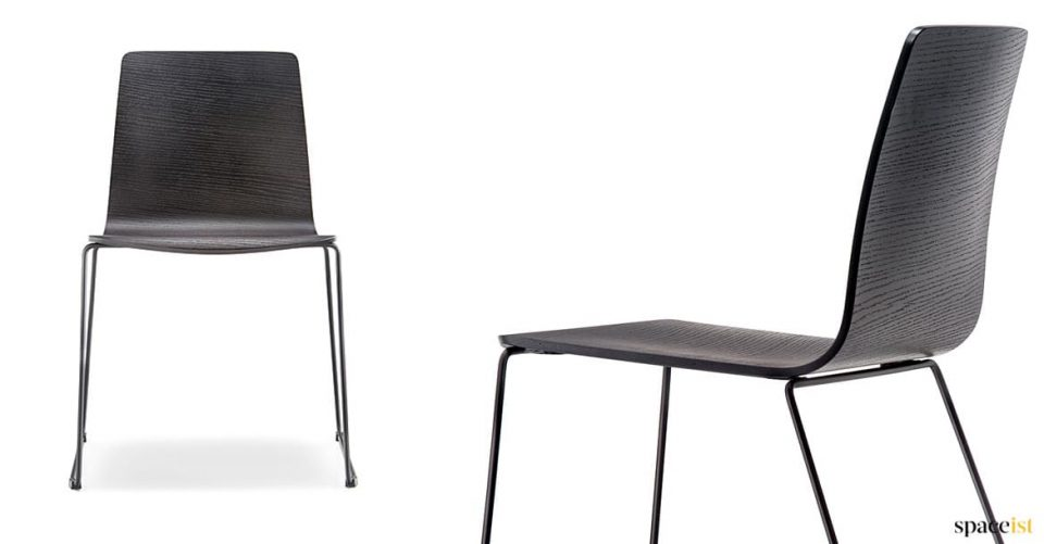 Black wood cafe chair