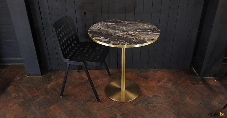 Modern table top brass base