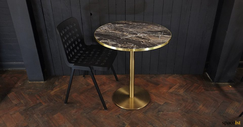 Modern table top brass base