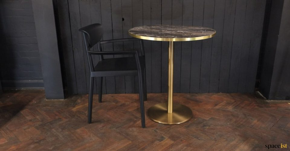 brass-gold cafe table