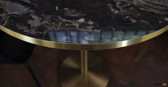 Brass edge close-up