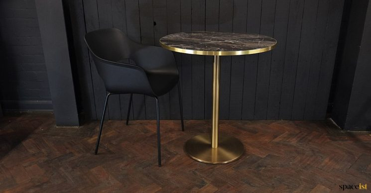 Bistro brass cafe table