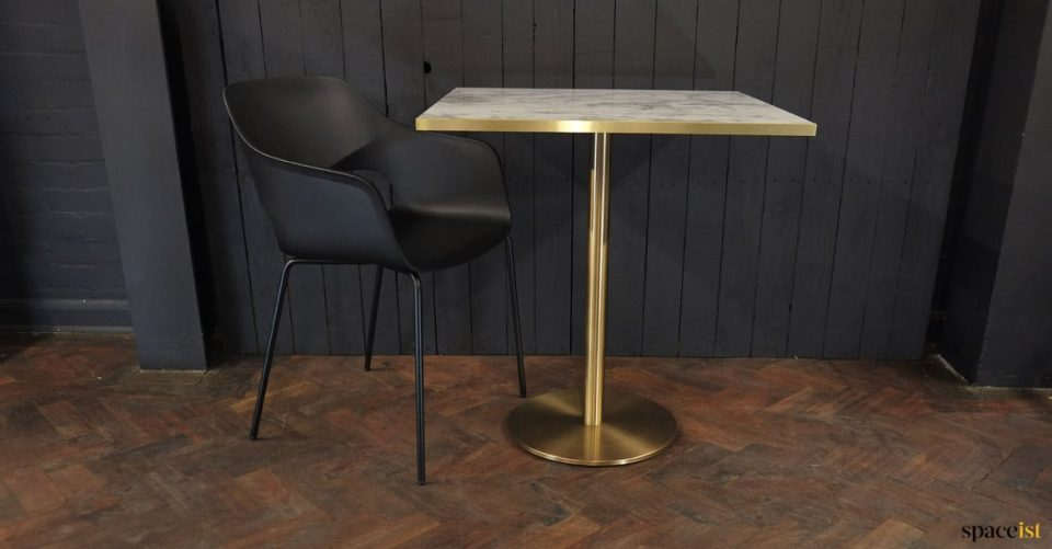 Square gold-brass table