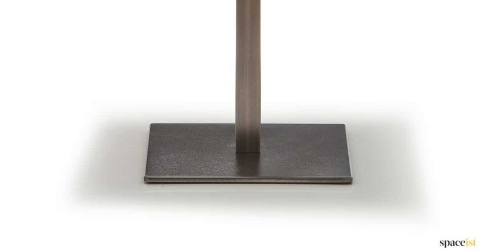 Cast iron cafe table base and steel column