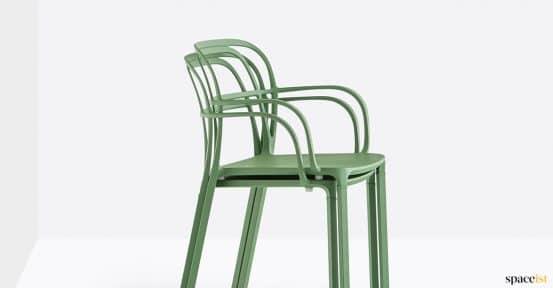 Stackable metal chair