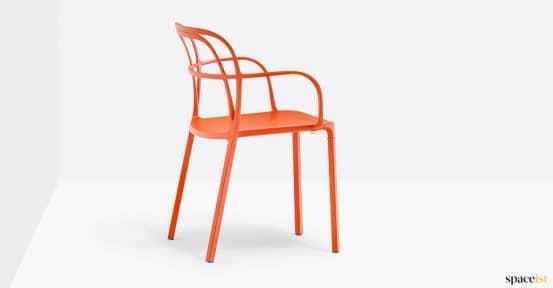 Orange outdoor cafa chair