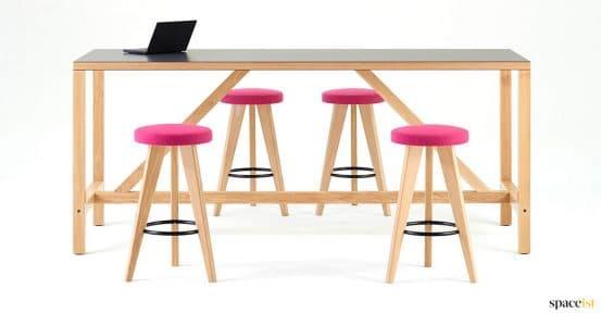 Grey + oak modern canteen table