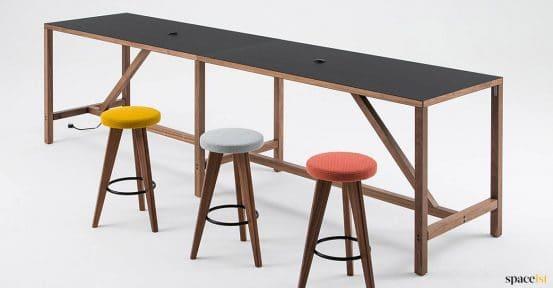 Black + walnut canteen table
