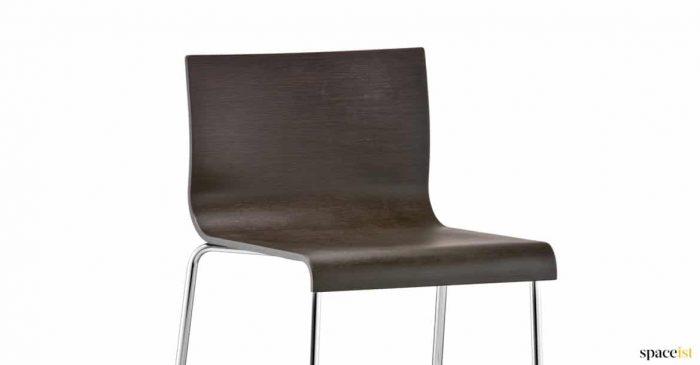 Dark wood stool