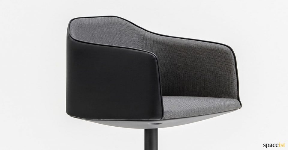Leather and fabric meeting chair