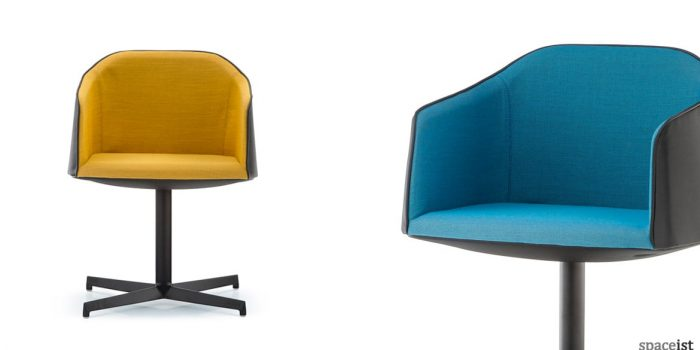 Laja yellow blue chair central base