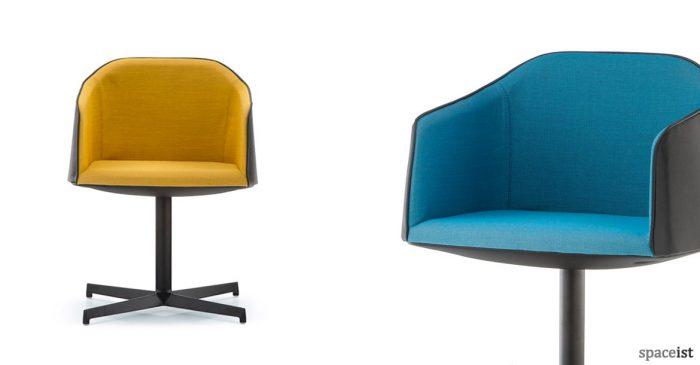 Laja yellow blue chair central base