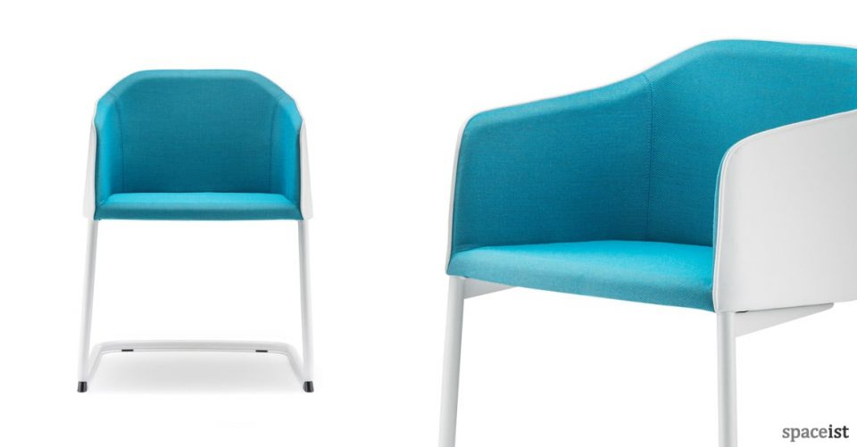 Laja blue cantilever meeting chair