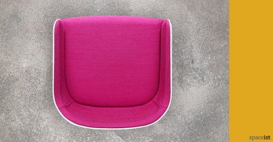 Laja pink and white meeting room chair top view