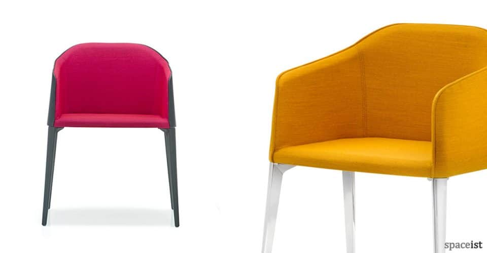 Laja pink and yellow meeting chair