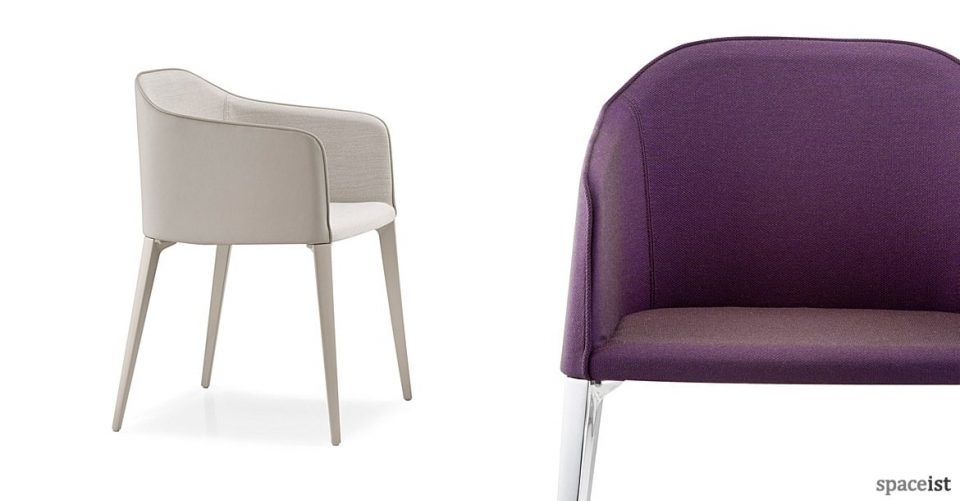 Laja puprle meeting chair with polished leg