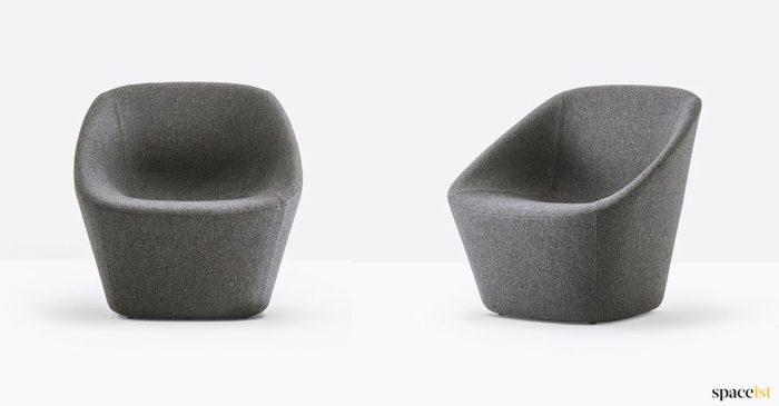 Dark grey reception chair