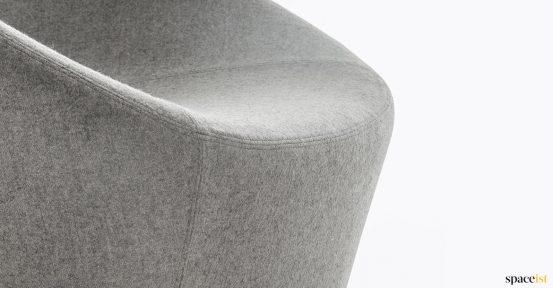 Log chair closeup