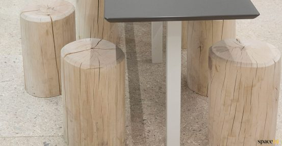 Log solid wood low stool