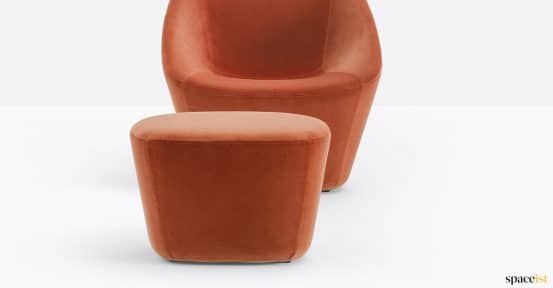 Red velvet reception chair