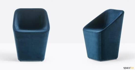 Log chair blue