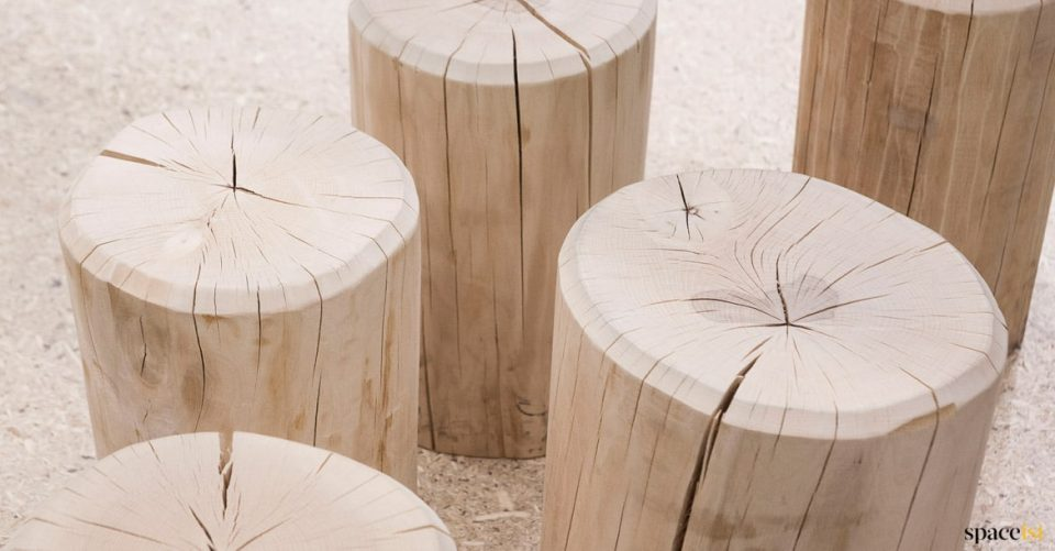 Log low stool for bars & cafes