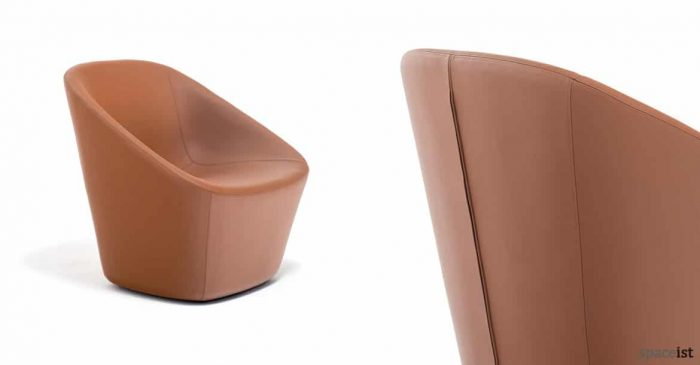 Log designer tan leather reception chair