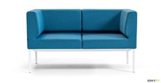 Small reception sofa in blue