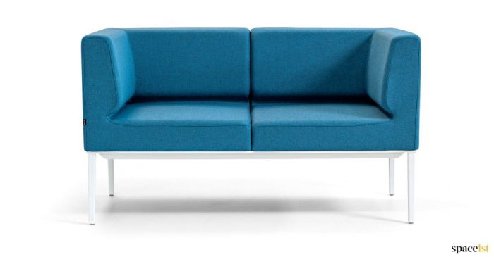 Small reception sofa in blue