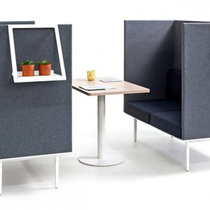 High back sofa pod to seat four people