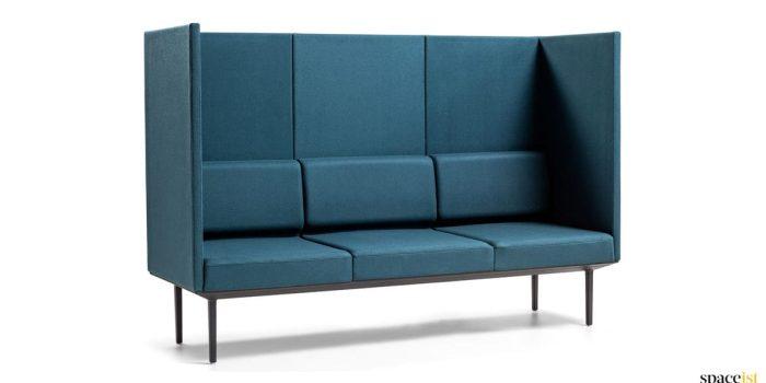Blue very high back reception sofa