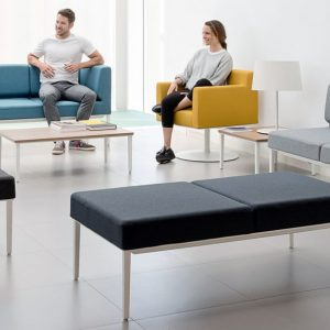 Longi modular compact office reception sofa