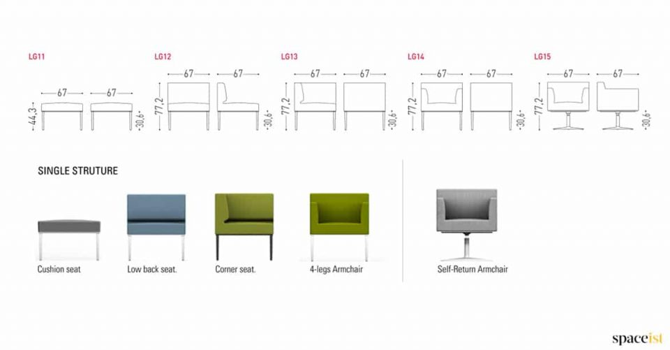 Longi office chair sizes