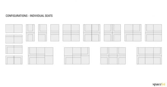 Longi office chairs configurations