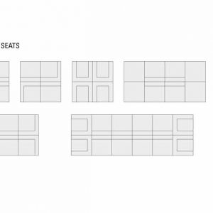 Longi double sofa configurations