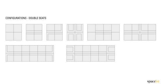 Longi double sofa configurations