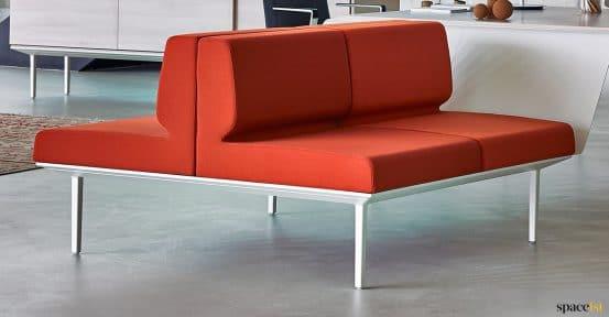 Longi red office sofa close up