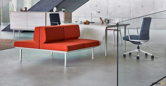 Longi sofa-desk red