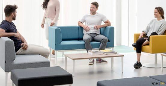 Longi compact small blue office sofa