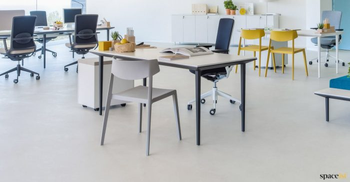 designer black executive desk