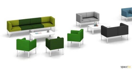Compact modular lobby sofa range