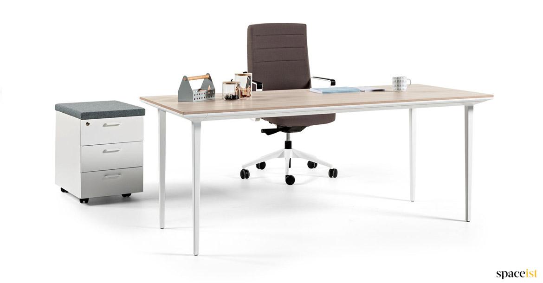 ze collections ibxqod series furniture desk unique executive white computer zebrano