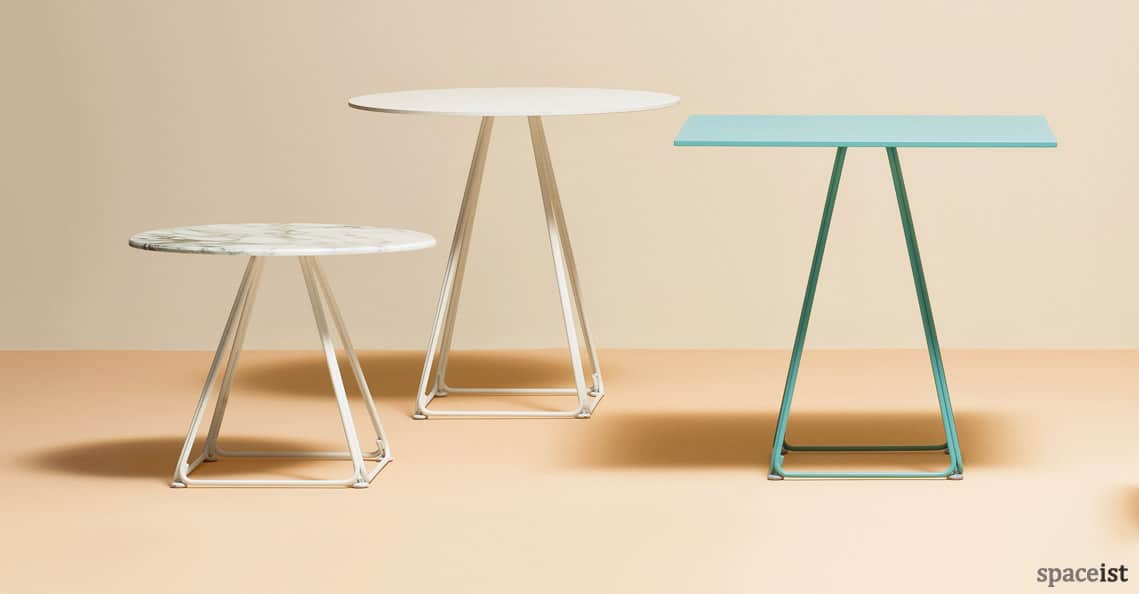 Spaceist Luna green pyramid cafe table