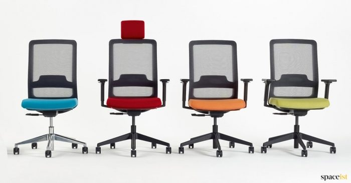 Max colourful desk chair in red