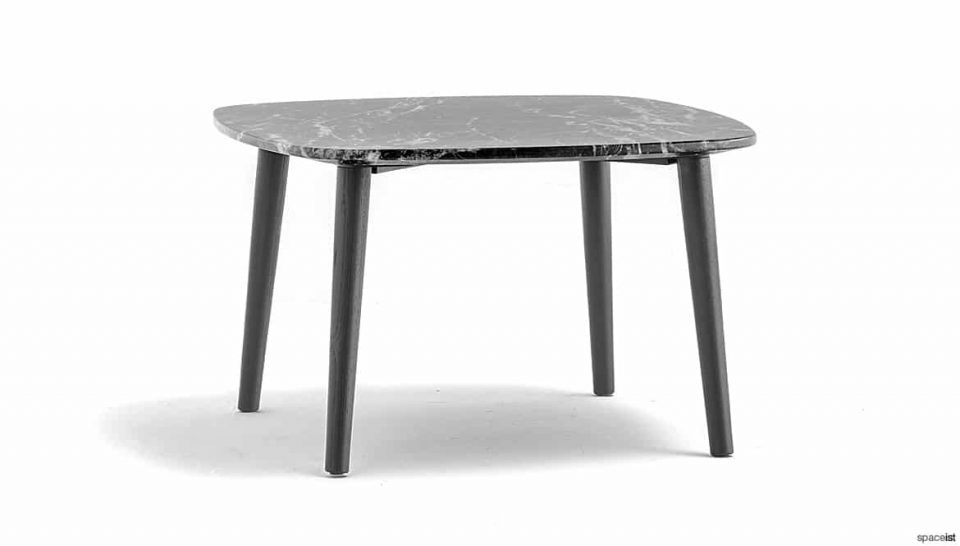 Black marble table