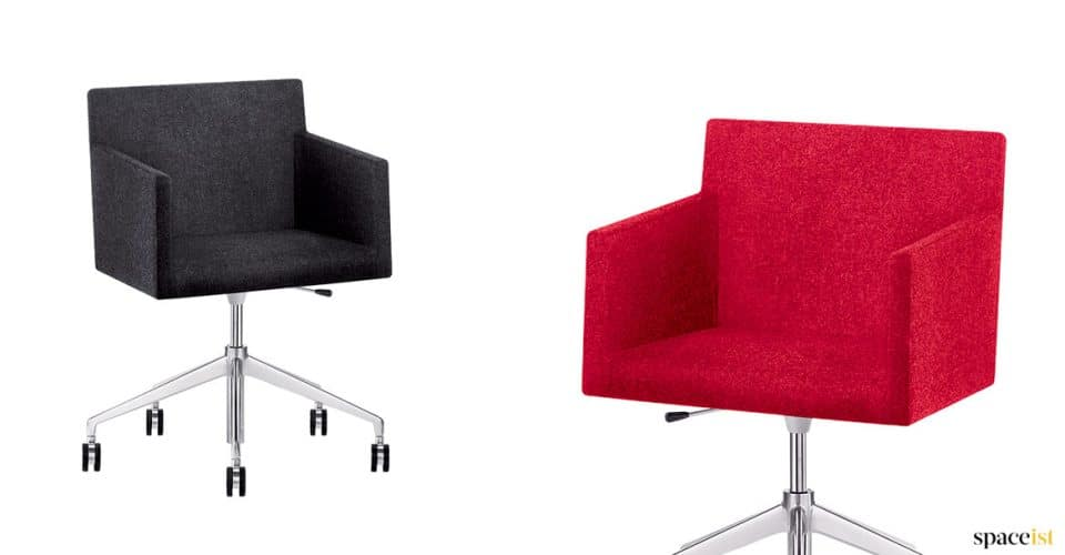 Masi red + black office chair on wheels