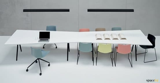 14 person angled table