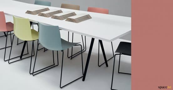 Meeting table closeup
