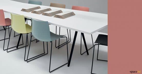 Meeting table closeup
